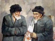 03年的一张新疆人物油画