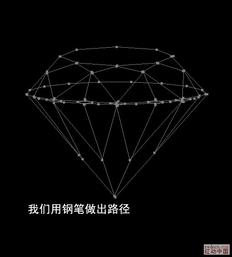 如何画钻石