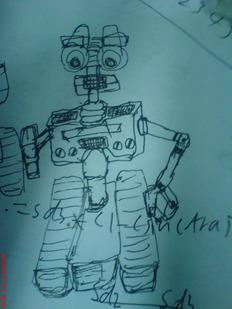 更新加上个DOLY~偶设计的机器人(WIN-T)~手绘草图加PROE建模渲染图