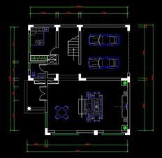 帮帮忙  一个别墅CAD图
