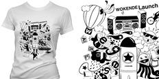 新人新作!矢量潮流广告T恤图案设计!