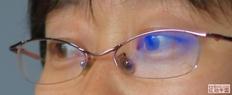 请尝试把眼镜镜片上的反光去掉
