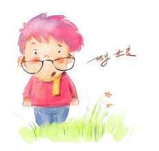 儿童插画水彩小速写