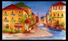 商业插图,ps仿逼真水彩(威尼斯的夜晚),附简单过程描述。