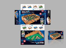 多功能游戏桌彩玩具包装盒设计