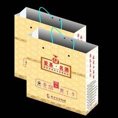 一个酒商贸手提袋的设计!