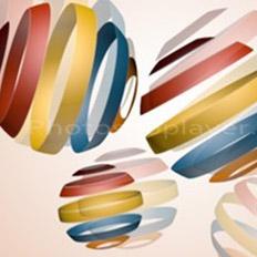 创建时尚的3D螺旋球