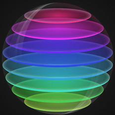 AI制作漂亮的透明渐变球体