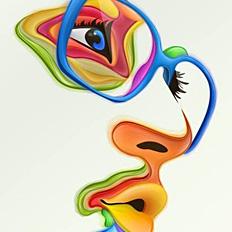 精致的色彩抽象作品欣赏