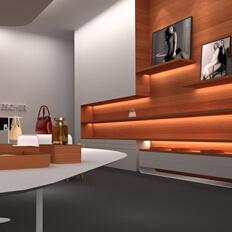 深圳朗博商业空间案例,ESCHER时尚品牌空间设计