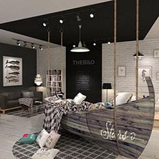 刘锡敏设计顾问 北欧家具展厅设计 家居展厅设计
