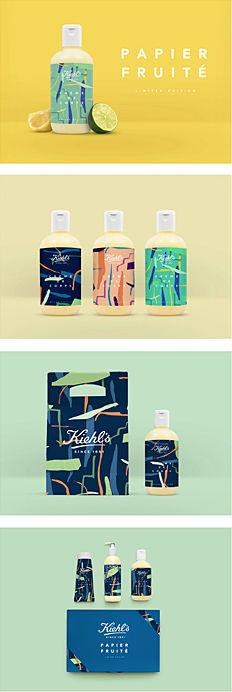 Kiehl's水果香味化妆品包装设计