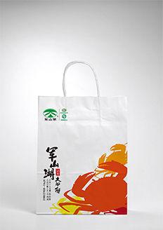 厦门研者品牌为江西军山湖鱼蟹开发公司设计的一套手提袋