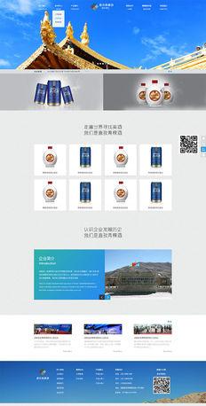 西藏喜孜青稞酒龙兵原创网站设计