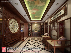 别墅古典中式装修设计案例—沉静含奢华 古朴融安逸