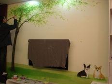 创意电视墙彩绘