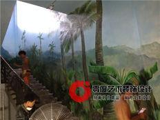 旅游区彩绘案例:海南母瑞山博物馆彩绘