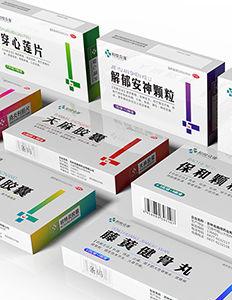 穿心莲片理气舒心片牛黄解毒片药品包装盒包装设计-小设鬼品牌策划