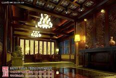 奢华含蓄的北京古典四合院装修设计效果图案例