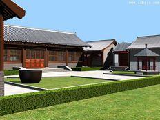 现代风格四合院装修效果图案例