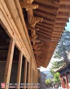 山西五台山黛螺顶寺院装修施工现场情况