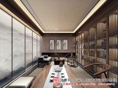 北京市亚运村新中式风格茶楼装修效果图案例