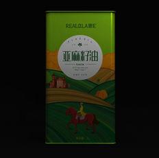 亚麻籽油国外系列风格包装设计 智圆行方包装设计机构